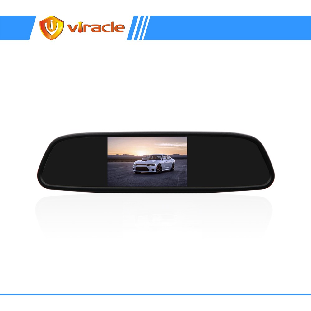 4.3 inch TFT-LCD Rearview Mirror Monitor 2 Ways Parking Display