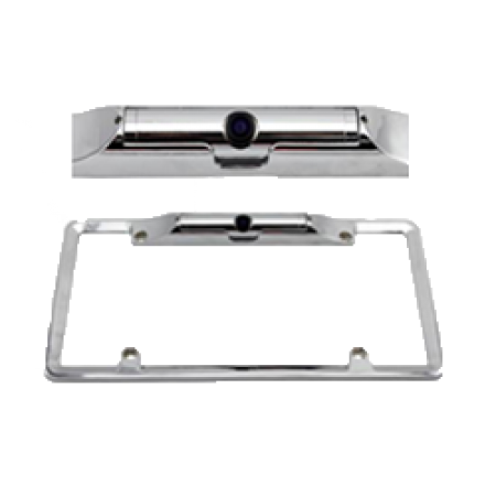 High Quality American Plate Frame Car Camera with Silver Color
